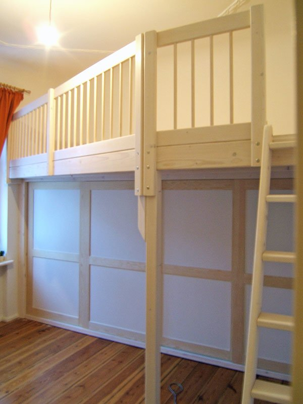 hochbett mit treppe loft bed hochbett on pinterest diy. Black Bedroom Furniture Sets. Home Design Ideas