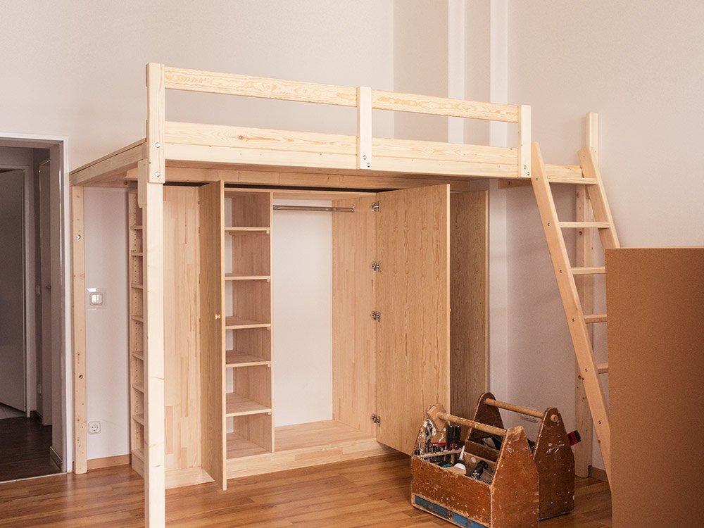 Etagenbett Liegefläche 80 180 : Hochbetten & hochetagen und zubehör bei der tischlerei hardys