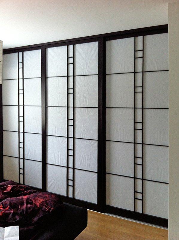 shoji lichtdurchl ssige japanische schiebew nde. Black Bedroom Furniture Sets. Home Design Ideas